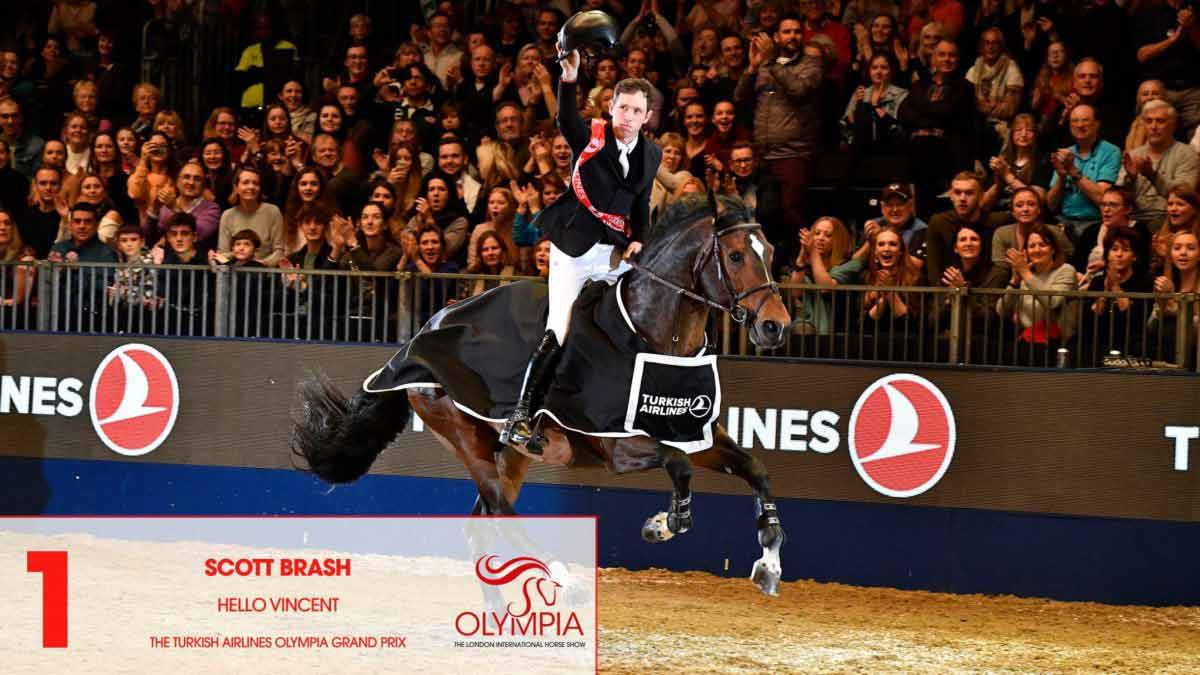 A Night to Remember for RED MILLS Riders Scott Brash & Edwina Tops Alexander at Olympia