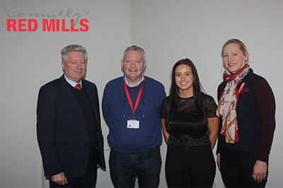 IT Carlow Marketing Students Give Connolly's RED MILLS  Food For Thought in International Marketing Project