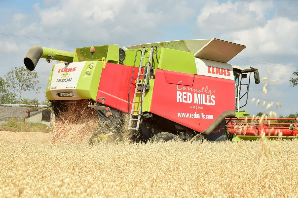 Harvest time at Connolly's RED MILLS