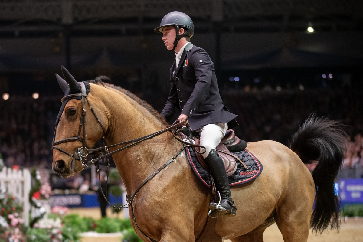 Podium finish for Mikey Pender and Irish Sport Horse HHS Calais in Abu Dhabi World Cup Grand Prix