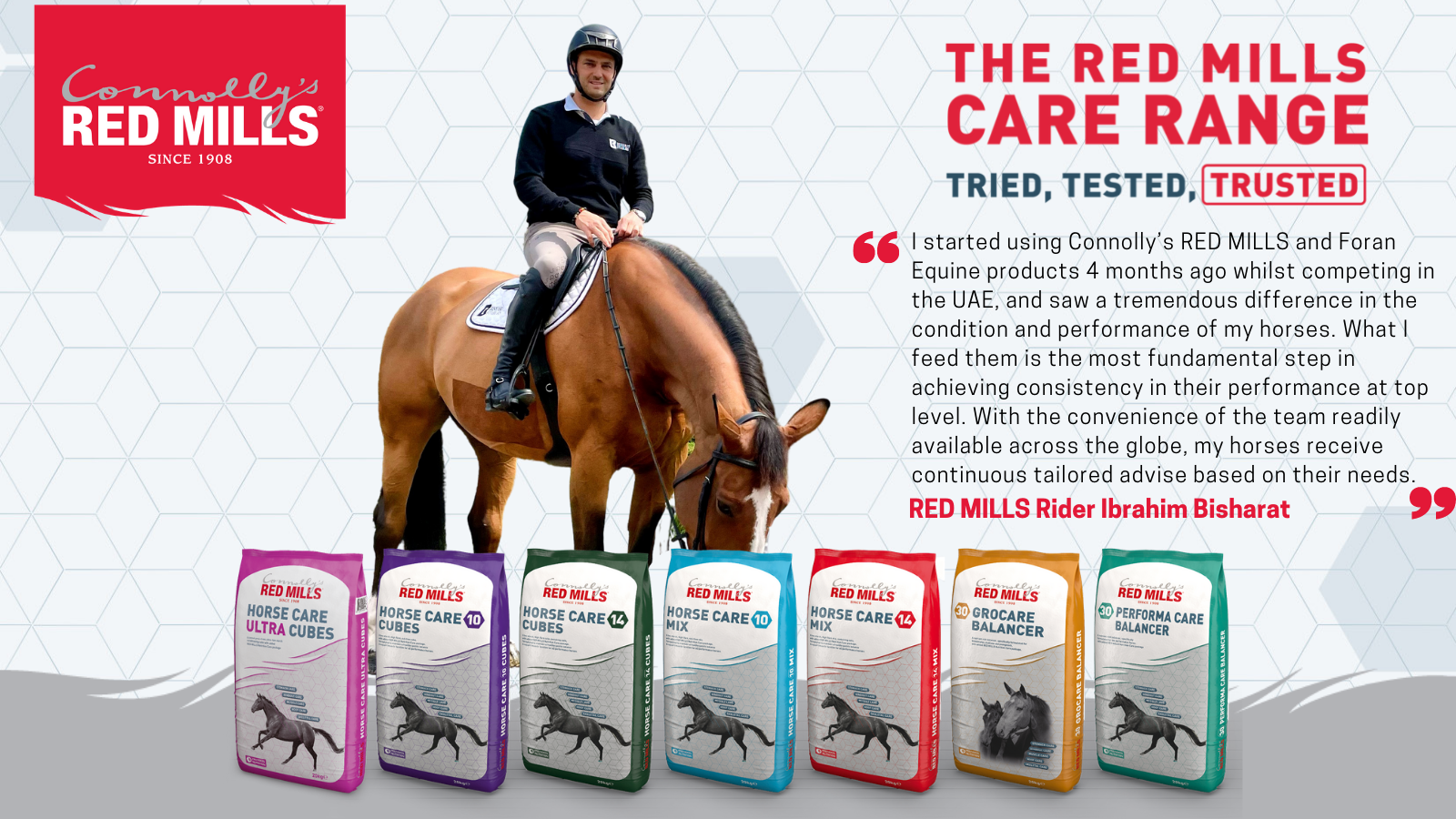 Ibrahim Bisharat joins Connolly's RED MILLS team of riders